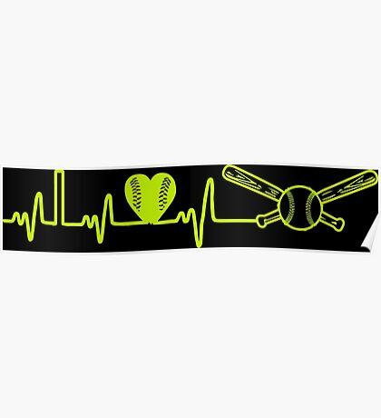 Softball Heartbeat Poster