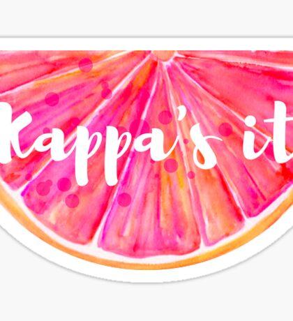 Kappa's It Grapefruit Sticker