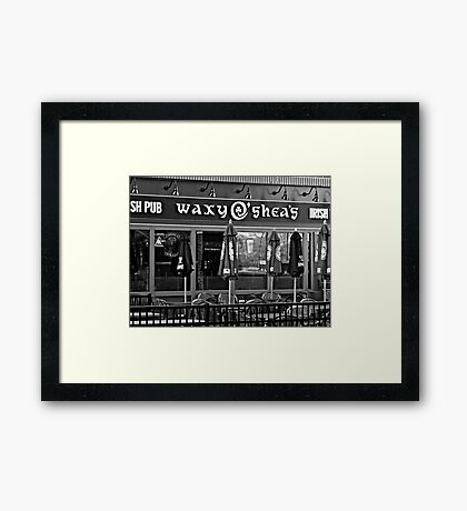 Waxys in Black and White Framed Print