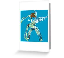 The Fight Is On! | Pit Typography Greeting Card