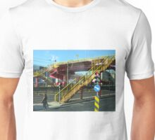 Stairs and walkway in Lisbon, Portugal. Unisex T-Shirt