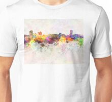 Billings skyline in watercolor background Unisex T-Shirt