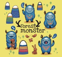 Forest monsters One Piece - Short Sleeve