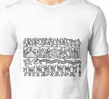 Keith Haring Black/White Unisex T-Shirt