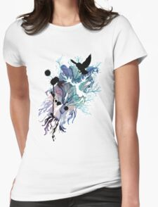 HARRY POTTER HEDWIG WATERCOLOUR  Womens Fitted T-Shirt