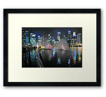 Marina Bay, Singapore. (2) Framed Print