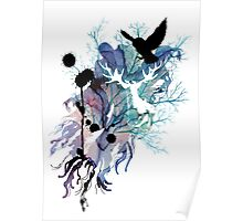 HARRY POTTER HEDWIG WATERCOLOUR  Poster