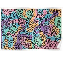 Keith Haring Movement Poster