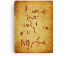 I solemnly swear that I am up to NO good Canvas Print