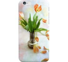 Colorful Tulips in an Antique Silver Pot iPhone Case/Skin