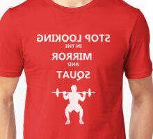 Mirror Squat White Unisex T-Shirt