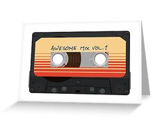 Awesome Mix Vol. 1 Greeting Card