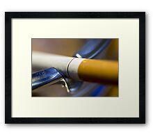 Cigarette Macro Framed Print