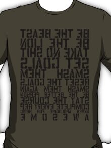 Training Rules - Black Mirrored T-Shirt
