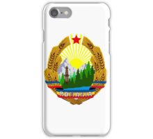 emblem of romania high resolution iPhone Case/Skin