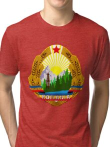 emblem of romania high resolution Tri-blend T-Shirt