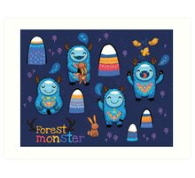Forest monsters Art Print