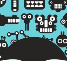 Robots faces blue Sticker