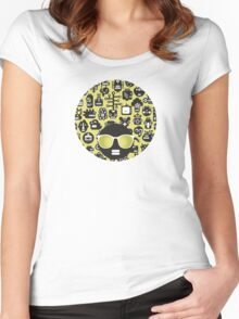 Robots faces green Women's Fitted Scoop T-Shirt