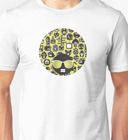 Robots faces green Unisex T-Shirt