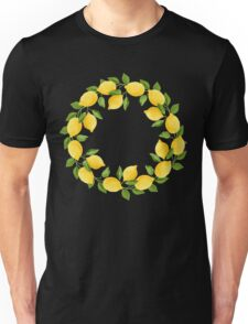 Watercolor Lemon Pattern Unisex T-Shirt