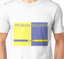 Problem versus Solution contrast concept Unisex T-Shirt