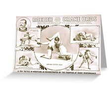 Performing Arts Posters Roeber and Crane Bros Vaudeville Athletic Co 1427 Greeting Card