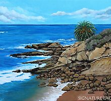 Laguna Beach, Heisler Park Plein Air by signaturelaurel