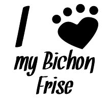 I Heart My Bichon Frise by kwg2200