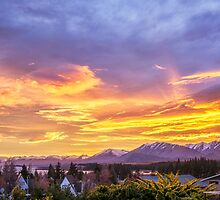 Sunrise over Tekapo by SeeOneSoul