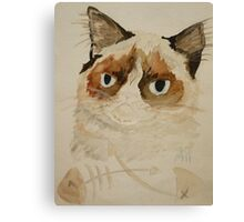 Grumpy Cat Canvas Print