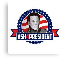 Ash 4 President Canvas Print