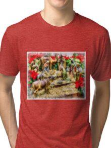 Christmas Nativity Tri-blend T-Shirt