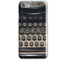 Black and White Typewriter iPhone Case/Skin
