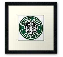 guns and coffee RC Framed Print
