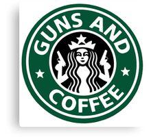 guns and coffee RC Canvas Print
