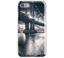 manhattan bridge on the night iPhone Case/Skin