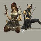 Pirates VS Ninja by Adam Nichols