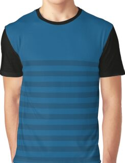 Retro Inspired Striped Snorkel Blue Spring 2016 Graphic T-Shirt