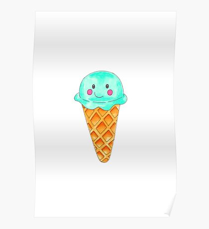 Ice Cream Blueberry Poster