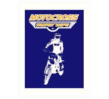 Motocross Trophy Wife - Girl Rider Art Print