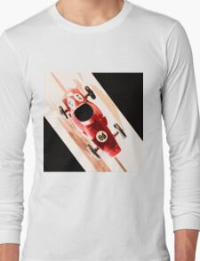 Toy Car on Wooden Track  Long Sleeve T-Shirt