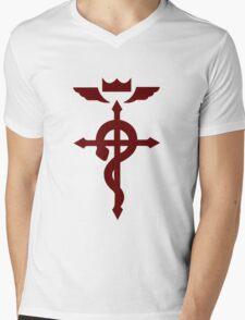 Fullmetal Alchemist Flamel - Red Mens V-Neck T-Shirt