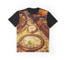 Ancient map Travel Graphic T-Shirt