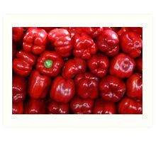 Sweet Red Peppers Art Print
