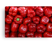 Sweet Red Peppers Canvas Print