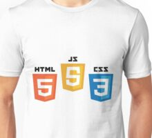 HTML5 CSS3 and JS Unisex T-Shirt