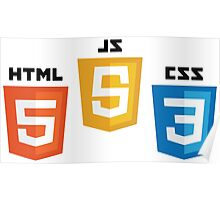 HTML5 CSS3 and JS Poster
