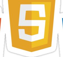 HTML5 CSS3 and JS Sticker