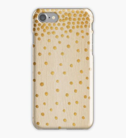 Gold Snowstorm on Wood iPhone Case/Skin